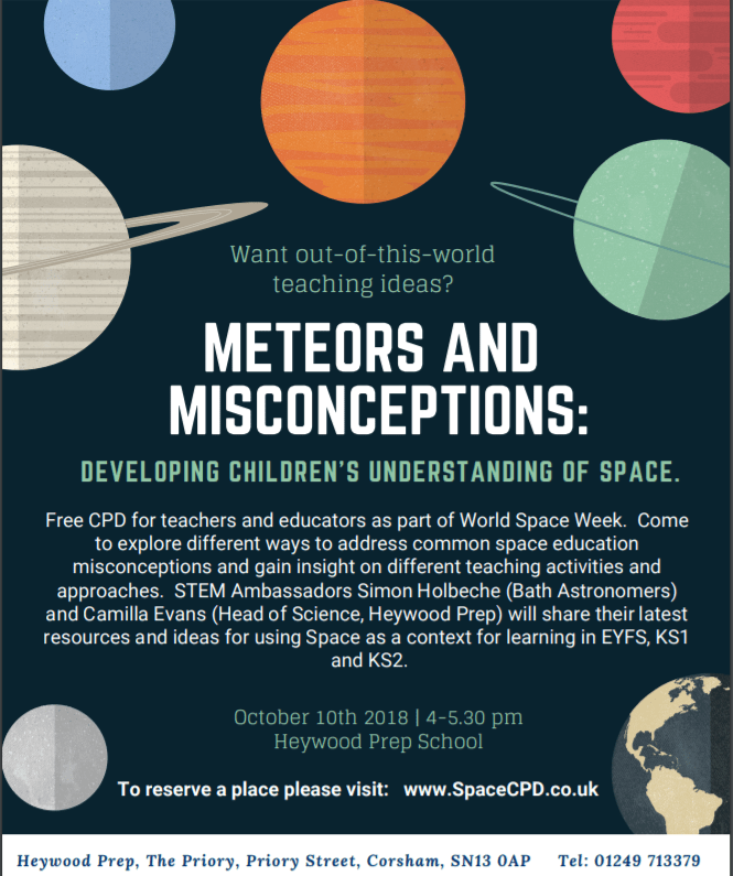 Meteors and Misconceptions: Teacher CPD
