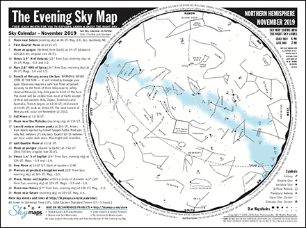 Sky Maps latest monthly view